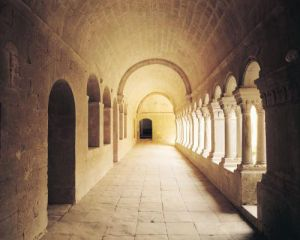 Interior view of the cloister by Anonymous