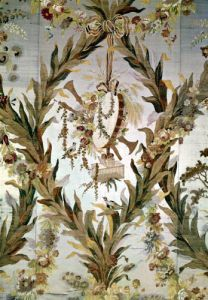 Mural silk of the Empress' Bedroom 1787 by Gilles Gaudin