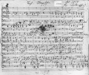 Autograph score for the lied 'Trost' by Anonymous