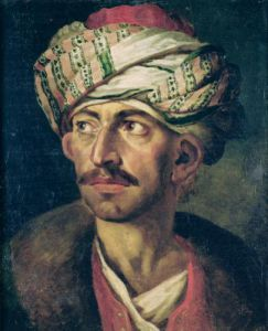 Portrait Presumed to be Mustapha c.1819 by Jean-Louis-André-Théodore Géricault