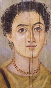 Fayum portrait of a woman by Coptic