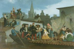 Napoleon III Visiting Flood Victims of Tarascon 1856 by Adolphe William Bouguereau