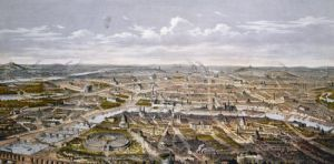 View of Paris from Bois de Boulogne Universal Exhibition in 1867 by Hilaire Guesnu