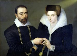 Portrait of a Couple by French School