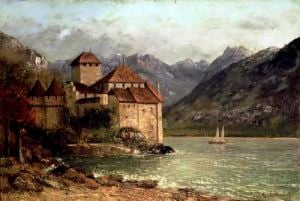 The Chateau de Chillon 1875 by Gustave Courbet