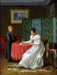 Woman Writing a Letter by Pierre Duval-Lecamus