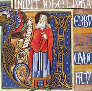 Historiated initial 'U' depicting Joel by French School