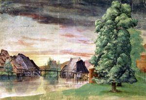 The Watermill 1495 by Albrecht Dürer
