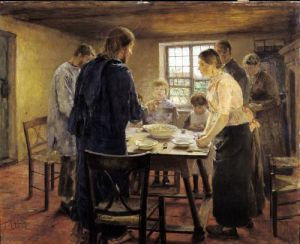Christ with the Peasants c.1887 by Fritz von Uhde