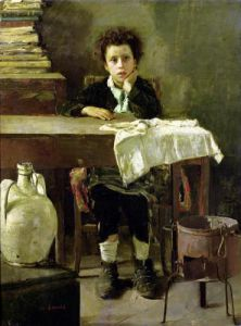 The Little Schoolboy by Antonio Mancini