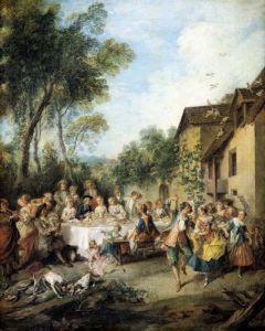 Wedding Feast in the Village by Nicolas Lancret