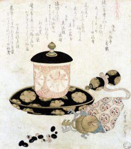 A Pot of Tea and Keys 1822 by Katsushika Hokusai