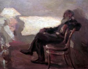Lev Nikolaevich Tolstoy by Leonid Osipovic Pasternak
