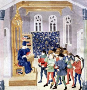 The Author Presenting his Book to the Peasants by French School