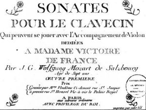 Title Page for 'Sonates pour le clavecin' by French School