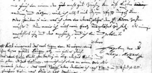 Letter from Leopold Mozart 1755 by Leopold Mozart