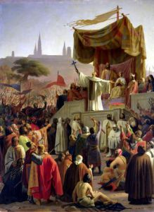 St. Bernard Preaching the Second Crusade in Vezelay 1840 by Emile Signol