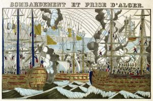 Bombardment and Siege of Algiers by French School