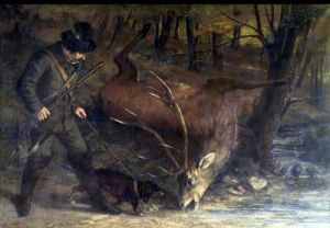 The Death of the Stag 1859 by Gustave Courbet