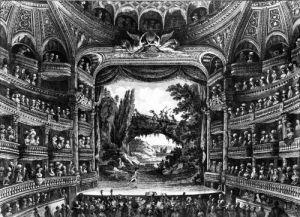 Second view of the Theatre de la Republique by Francois Denis Nee