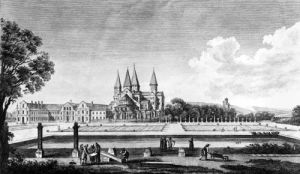 View of Cluny Abbey from 'Voyage Pittoresque de la France' (I) by Jean-Baptiste Lallemand