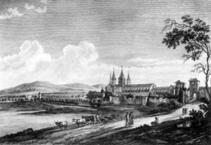 View of Cluny Abbey from 'Voyage Pittoresque de la France' (II) by Jean-Baptiste Lallemand