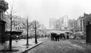 Building of Avenue de l'Opera butte des Moulins Paris 1858 by Charles Marville