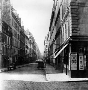 Rue Laffitte from the church Notre-Dame-de-Lorette Paris 1858 by Charles Marville