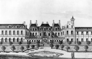 View of the Soissons Hotel in Paris by French School