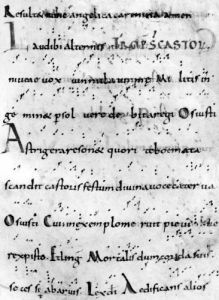 Introit for the feast of St. Castor from 'Troparium Aptense' by French School