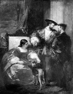 Francois I and Anne de Pisseleu Duchess of Etampes by Richard Parkes Bonington