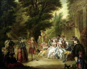 The Minuet under the Oak Tree 1787 by Francois Louis Joseph Watteau