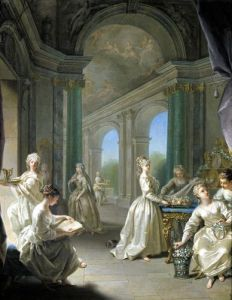 Modern Virgins 1728 by Jean Raoux
