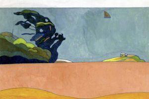 Poulu Landscape c.1892 by Charles Filiger