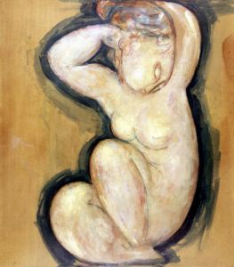 Caryatid, c.1913-14 by Amedeo Modigliani