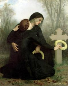 Le Jour des Morts 1859 by Adolphe William Bouguereau