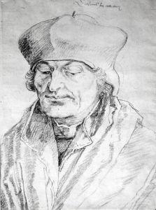Portrait of Desiderius Erasmus by Albrecht Dürer