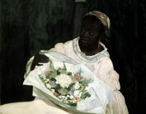 Olympia 1863 (Detail) by Edouard Manet