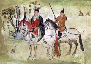 The Boddhisatva and his Equerry Tang Period by China
