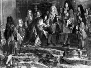 The Doge of Genoa offering his apologies to Louis XIV by Claude-Guy Halle