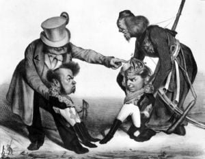 The Civil War in Portugal bringing into conflict Pedro I Emperor of Brazil and King of Portugal by Honoré-Victorin Daumier