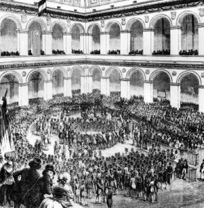 At the Paris Bourse 1846 by French School