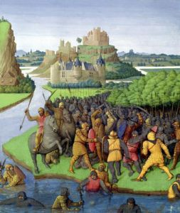 Battle between the Maccabees and the Bacchides c.1470 by Jean Fouquet