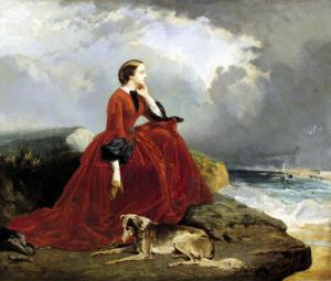 Empress Eugenie at Biarritz 1858 by E. Defonds