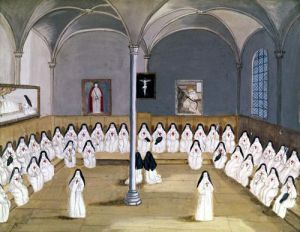 The Sisters of the Abbey from 'L'Abbaye de Port-Royal' c.1710 by Louise Madelaine Cochin