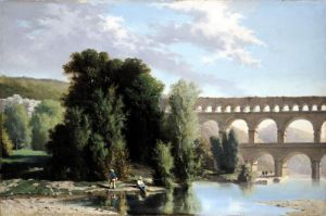 View of the Pont du Gard 1859 by Henri Marie Poinsot