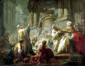 Jeroboam Sacrificing to the Golden Calf 1752 by Jean-Honoré Fragonard