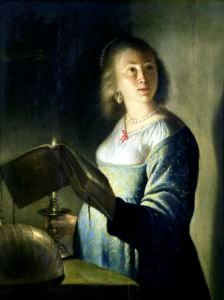 Young Woman with a Candle by Isaac de Jouderville