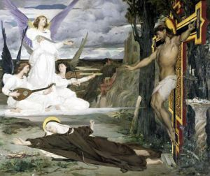 The Vision Legend of the 14th Century 1872 by Luc-Oliver Merson
