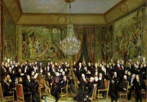 The Salon of Alfred Emilien Comte de Nieuwerkerke by Francois Auguste Biard